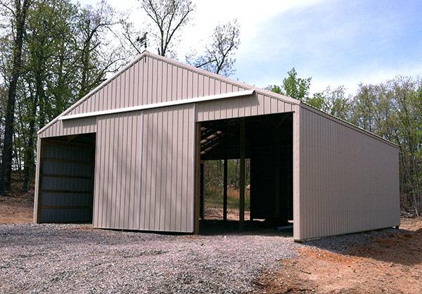 Services builder general contractor tecumseh mo for Pole barn sliding door plans